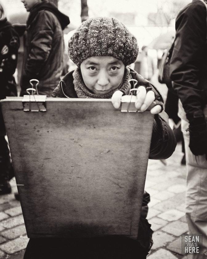 Street Artist. Montmartre, Paris France