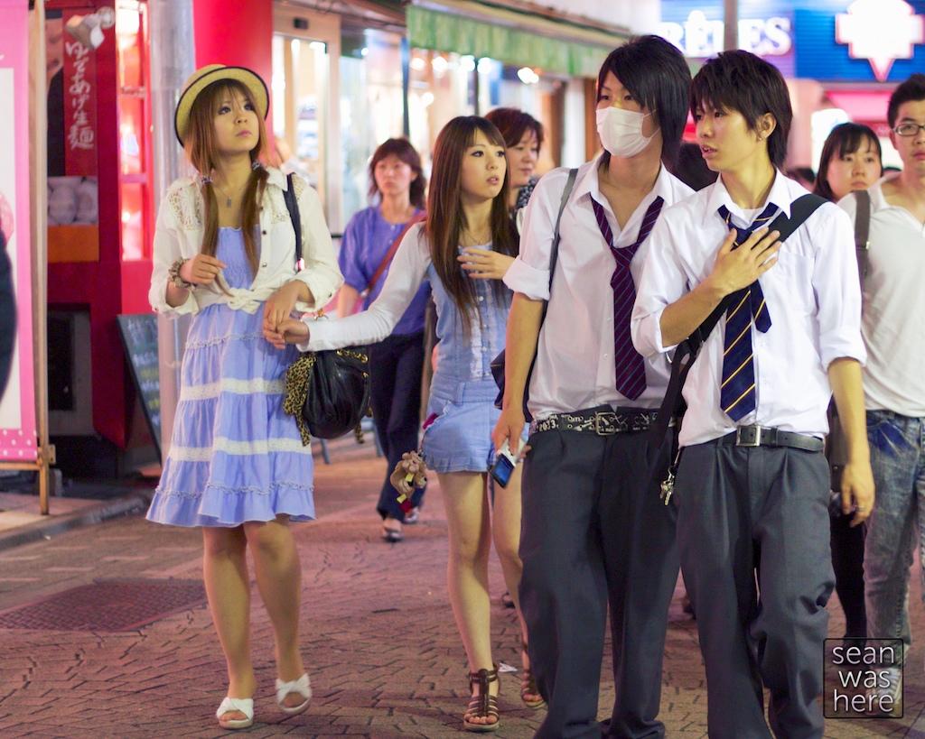 Fashion of the Harajuku Disctrict. Shibuya, Tokyo Japan.