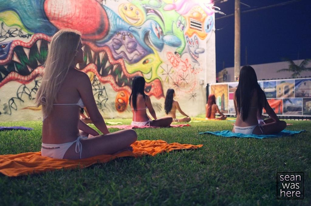 Yoga Girls.  Wynwood Walls 2011.  Wynwood Miami