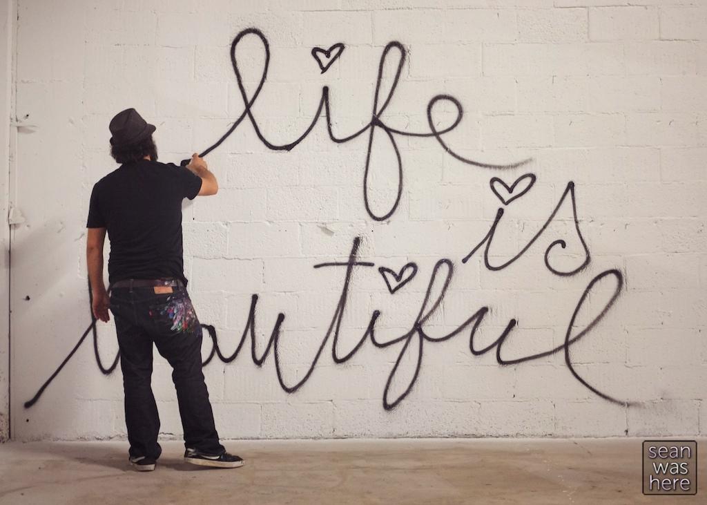Mr. Brainwash. Life is Beautiful. Wynwood Miami
