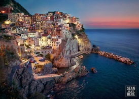Manarola At Sunset. Cinque Terre Italy