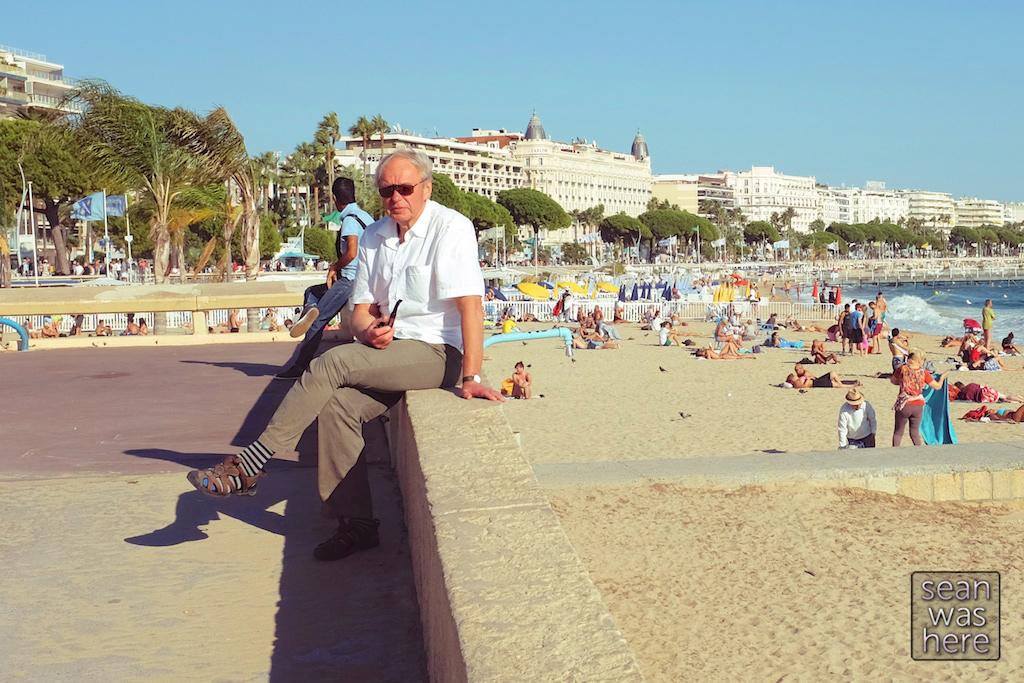 On the beach.  Cannes, France