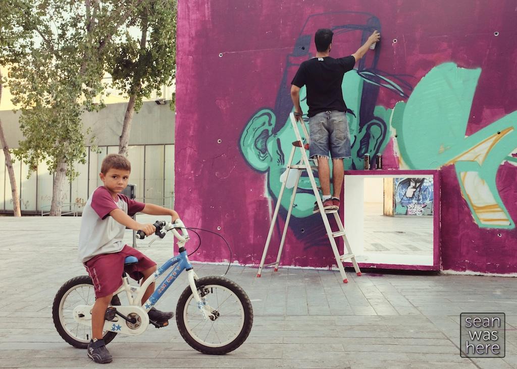 On the street.  El Raval, Barcelona Spain.