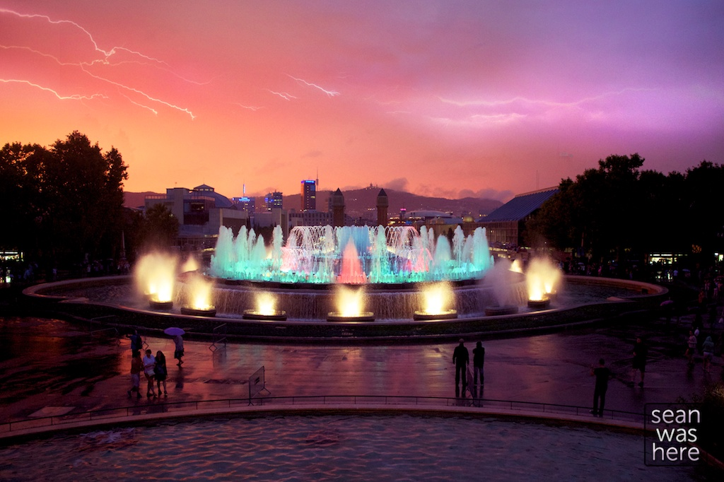 Magic Fountain of Montjuïc, Barcelona Spain
