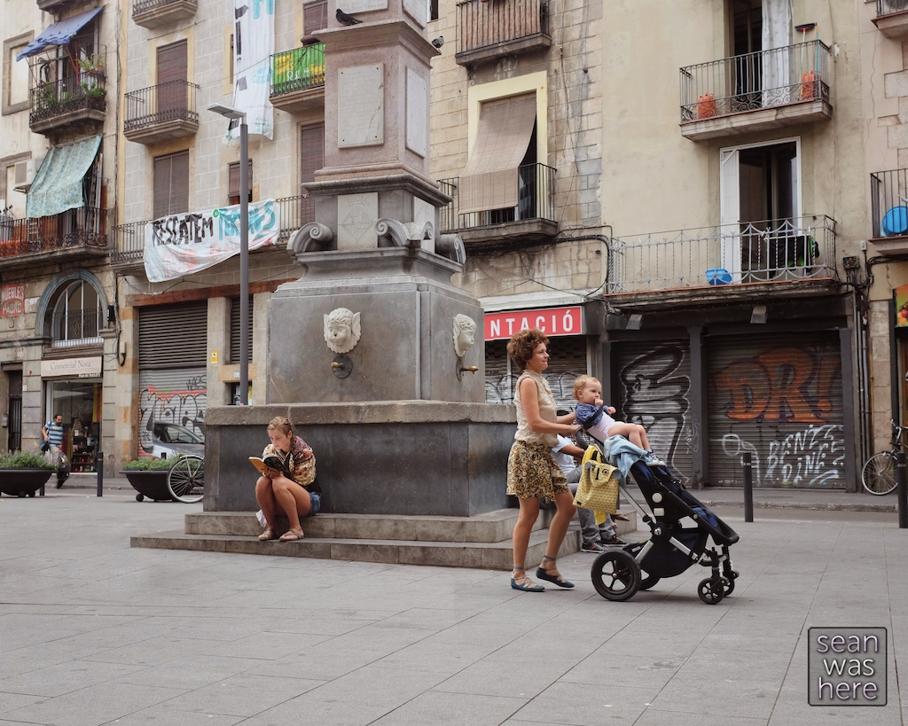 On the street.  El Raval, Barcelona Spain