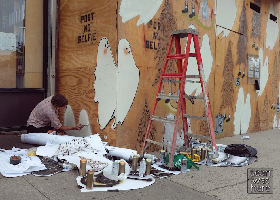 Amanda Marie, X O Brooklyn Mural. Beautiful Times Traveling Art Project Sean Was Here