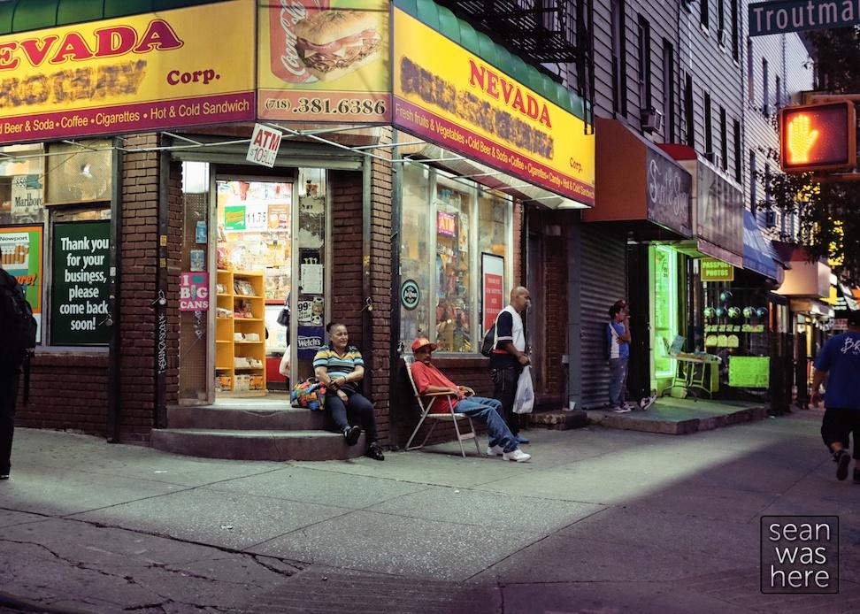 On The Block. Knickerbocker Ave, Bushwick Brooklyn NYC Sean Was Here