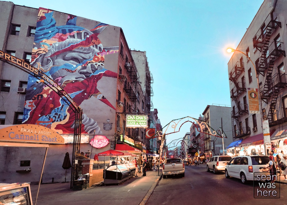 Liberty   NYC Street Art Mural By Tristan Eaton.  Little Italy NYC Sean Was Here