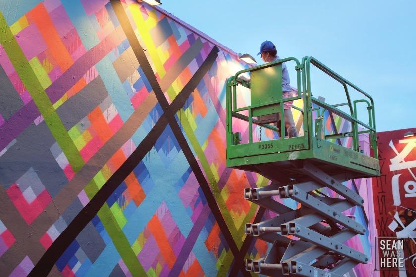 Maya Hayuk Mural. Wynwood Walls Miami