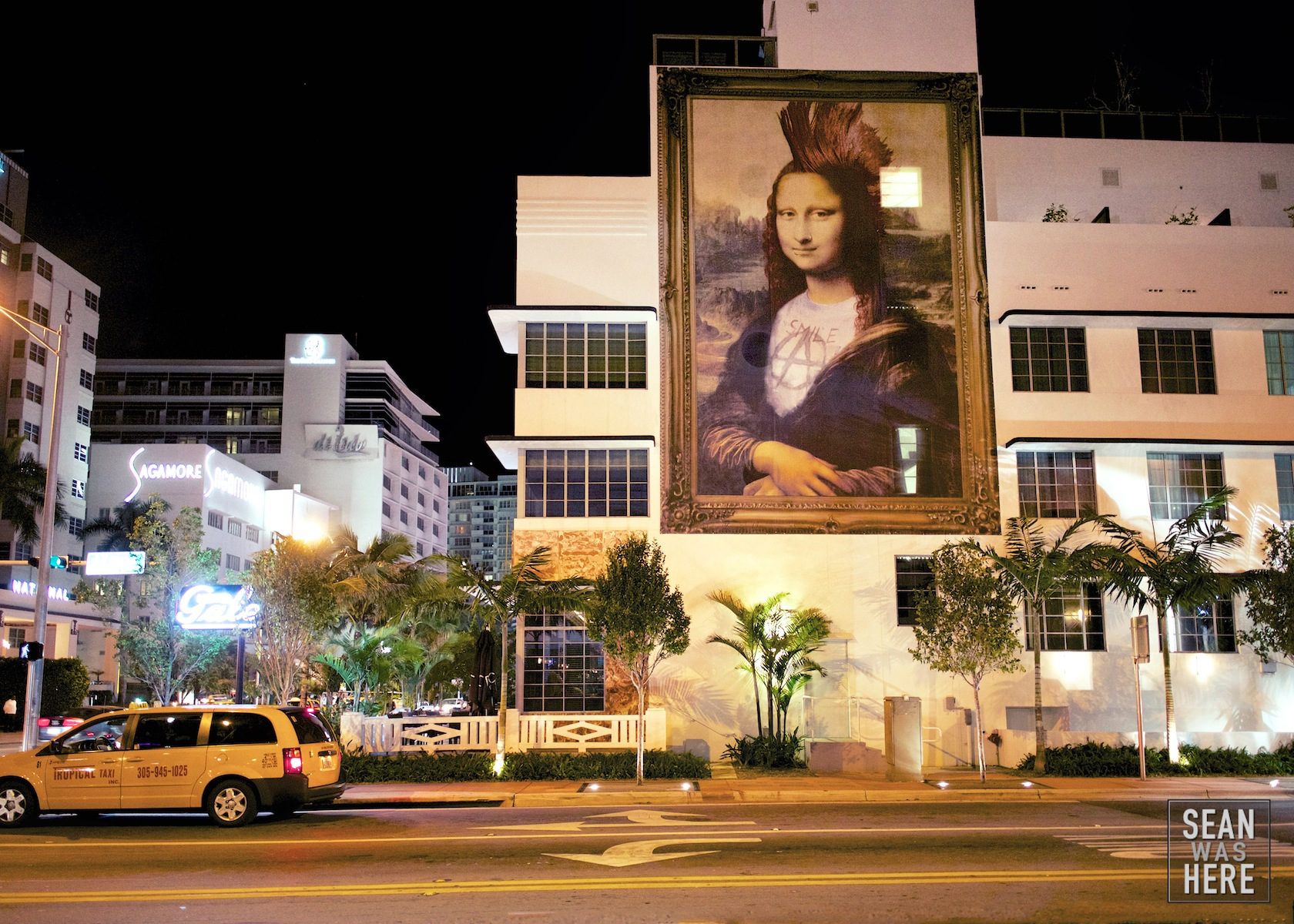 Gale South Beach. Mr Brainwash Mona Lisa. Miami