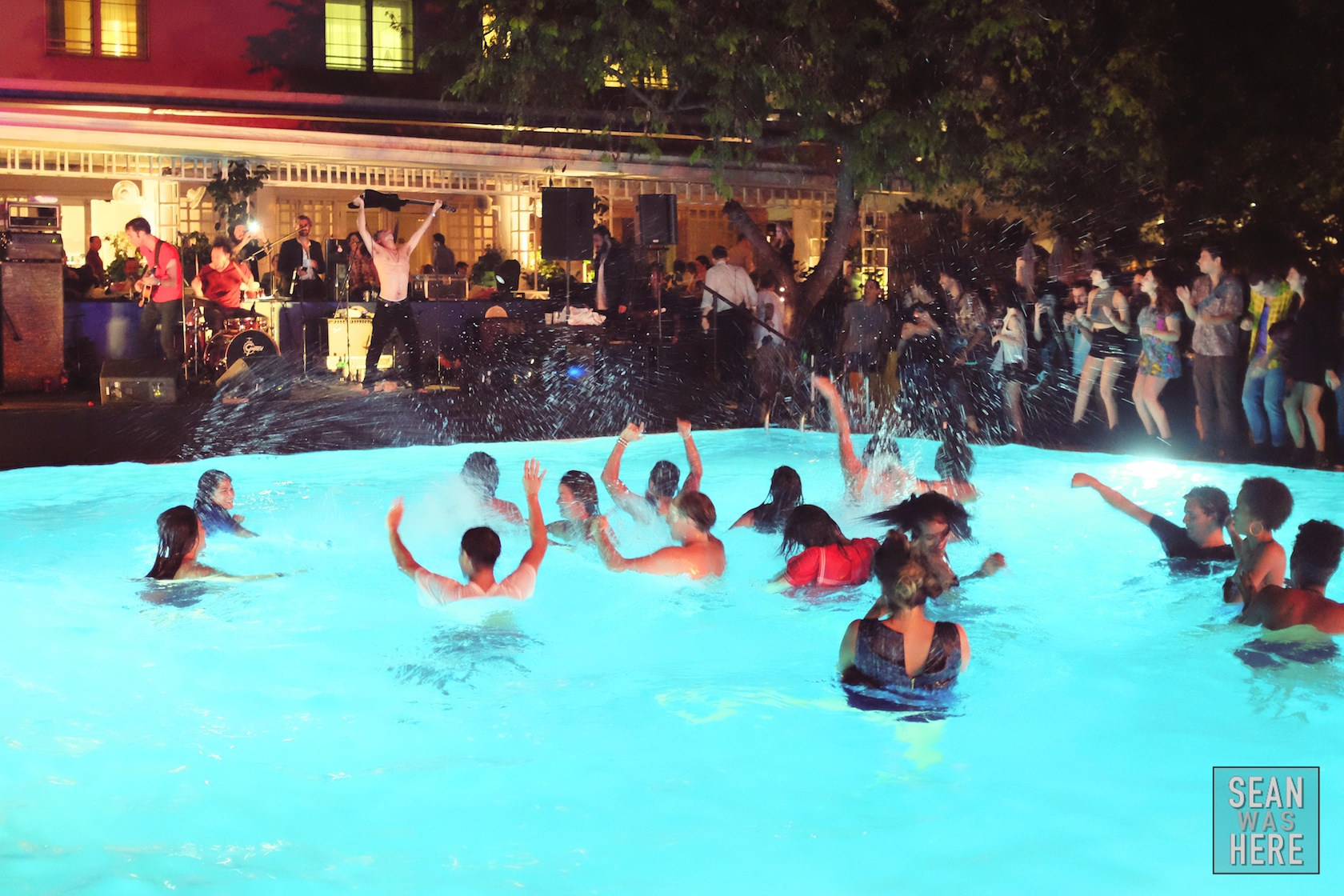 Juxtapoz pool party with the Black Lips. Shore Club Miami Beach Art Basel