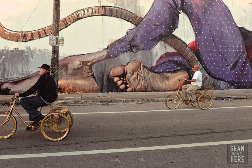 Herakut-mural-wynwood-art-basel-golden-bikes-street-photography-sean-was-here-miami