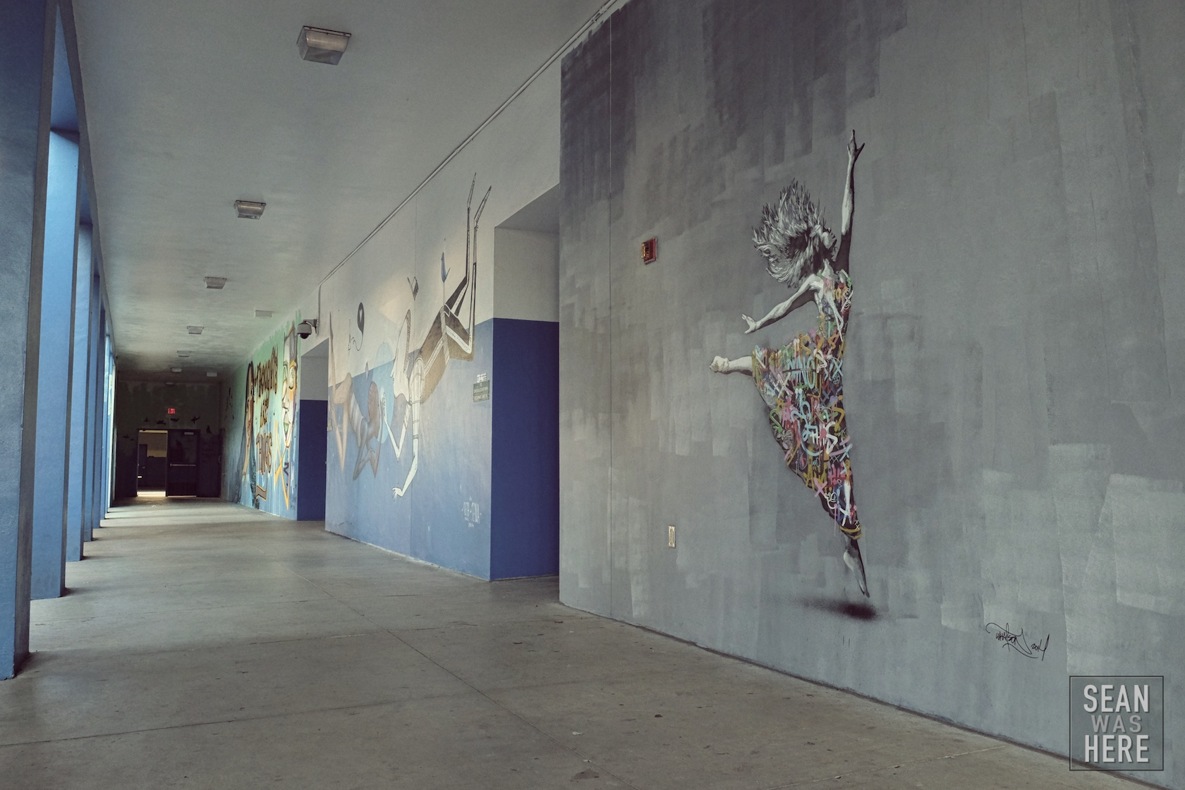 Martin Whatso (Norway) in the foreground with Alex Senna in the background. Jose De Diego Middle School, Wynwood Miami