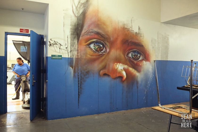 Mural by Melbourne artist Adnate. Part of the R.A.W Project. Jose De Diego Middle School, Wynwood Miami