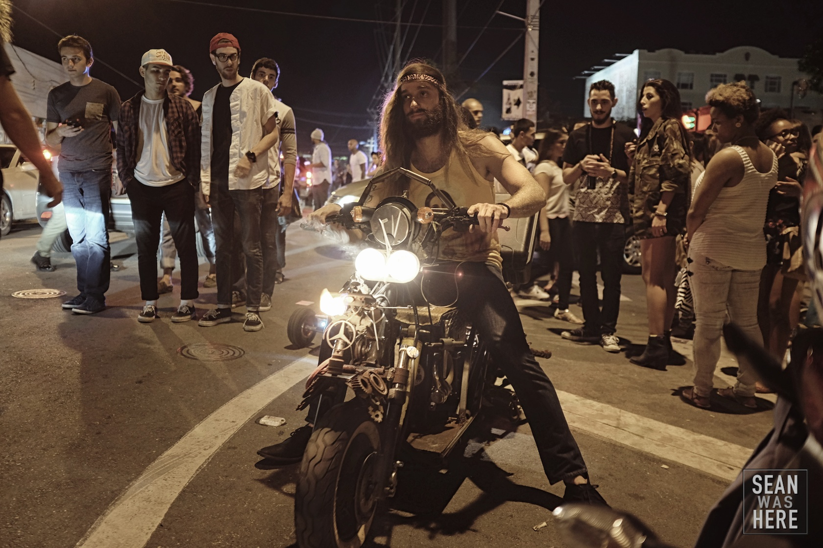 Custom built motorycle that spits fire. @zachonthat. NW 2nd Ave, Wynwood Miami