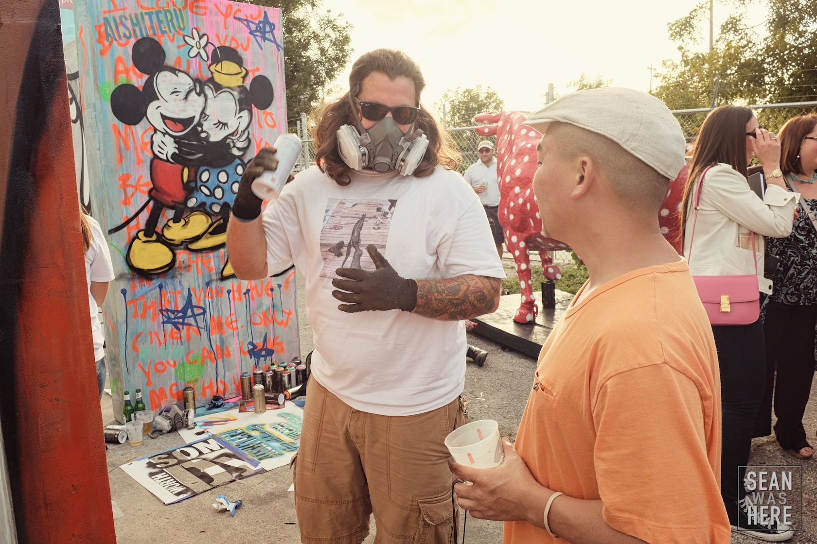 Atomiko and Gully Art at the Urban Blue Project. Miami