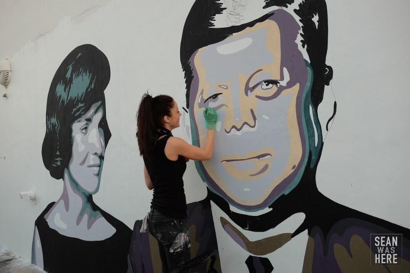 Elisabetta Fantone's Kenedy Mural. Wynwood Miami