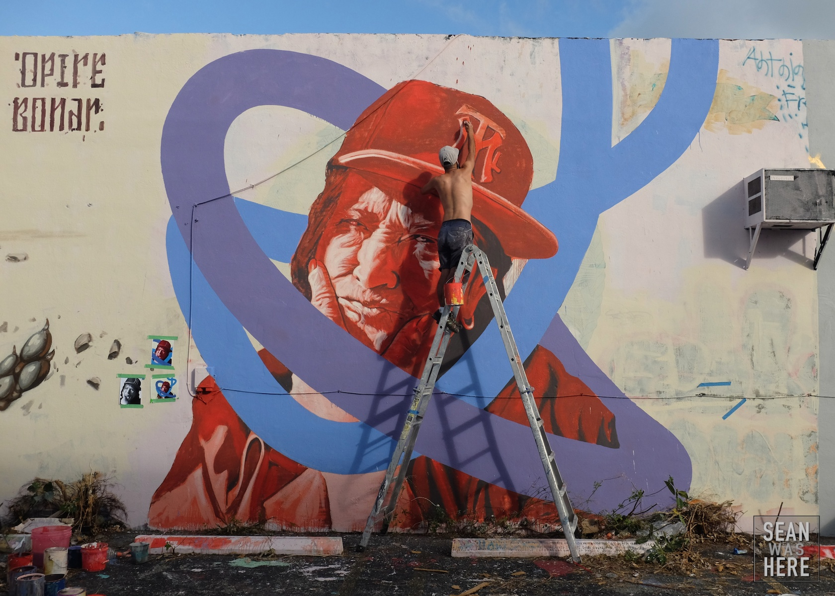 Kevin Lido (Montreal). Mural in progress. Wynwood Miami