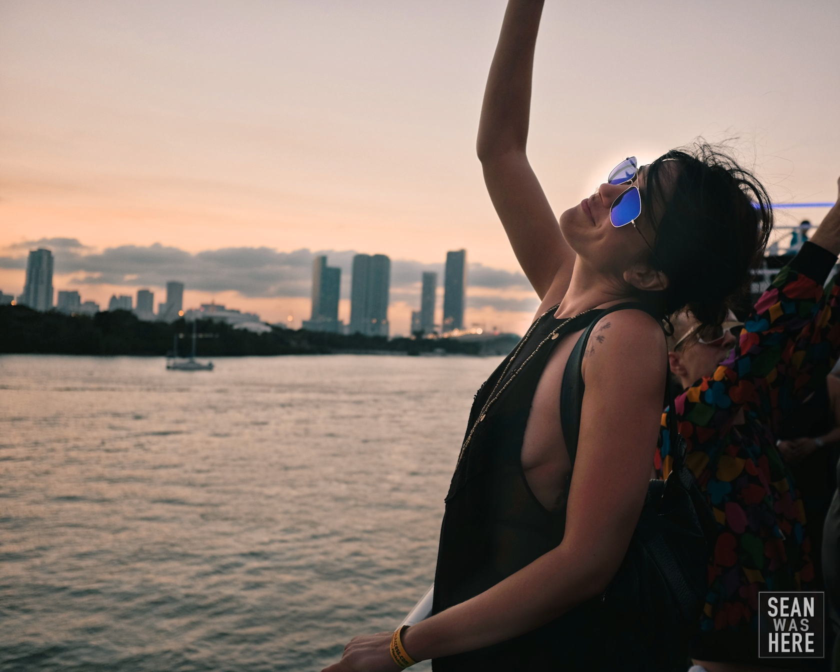 The best party - High Tide boat party the Sunday closing out Art Basel.