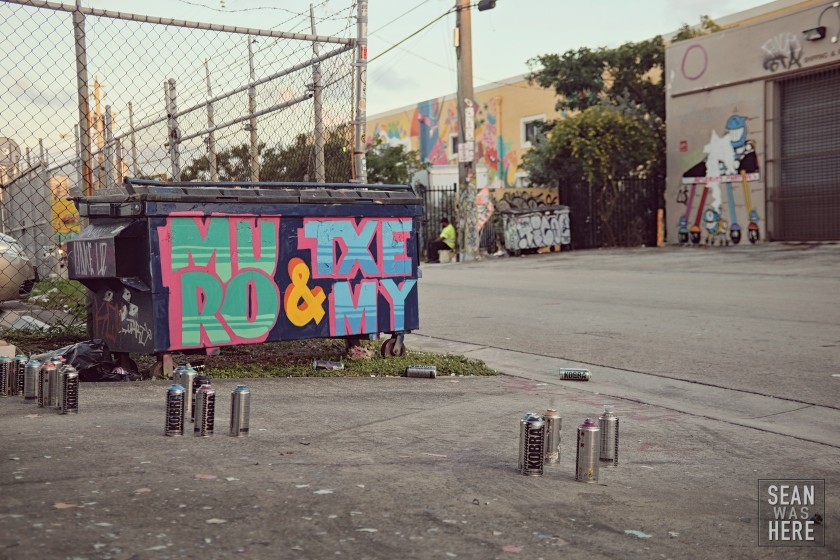 Muro, Txemy & cans of paint. Wynwood Miami