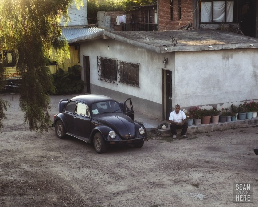 These VW bugs are EVERYWHERE in Mexico. They are family cars that have just been kept running since they were made. You see them in Mexico as often as you'd see a Toyota in the States. Mitla, Mexico