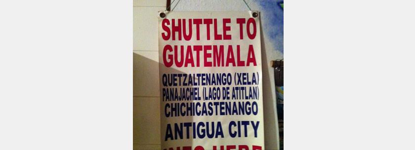 Shuttle To Guatemala