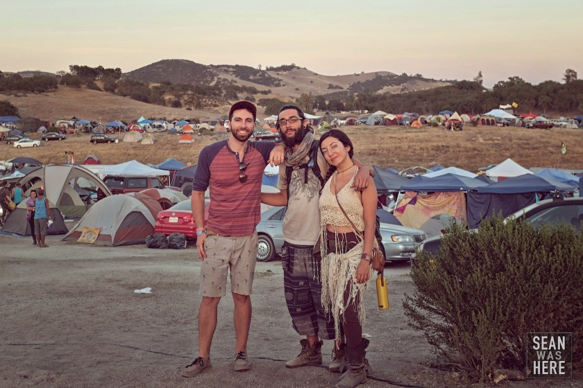 Myself and friends in front of our camp city. Lightning In A Bottle 2014, CA