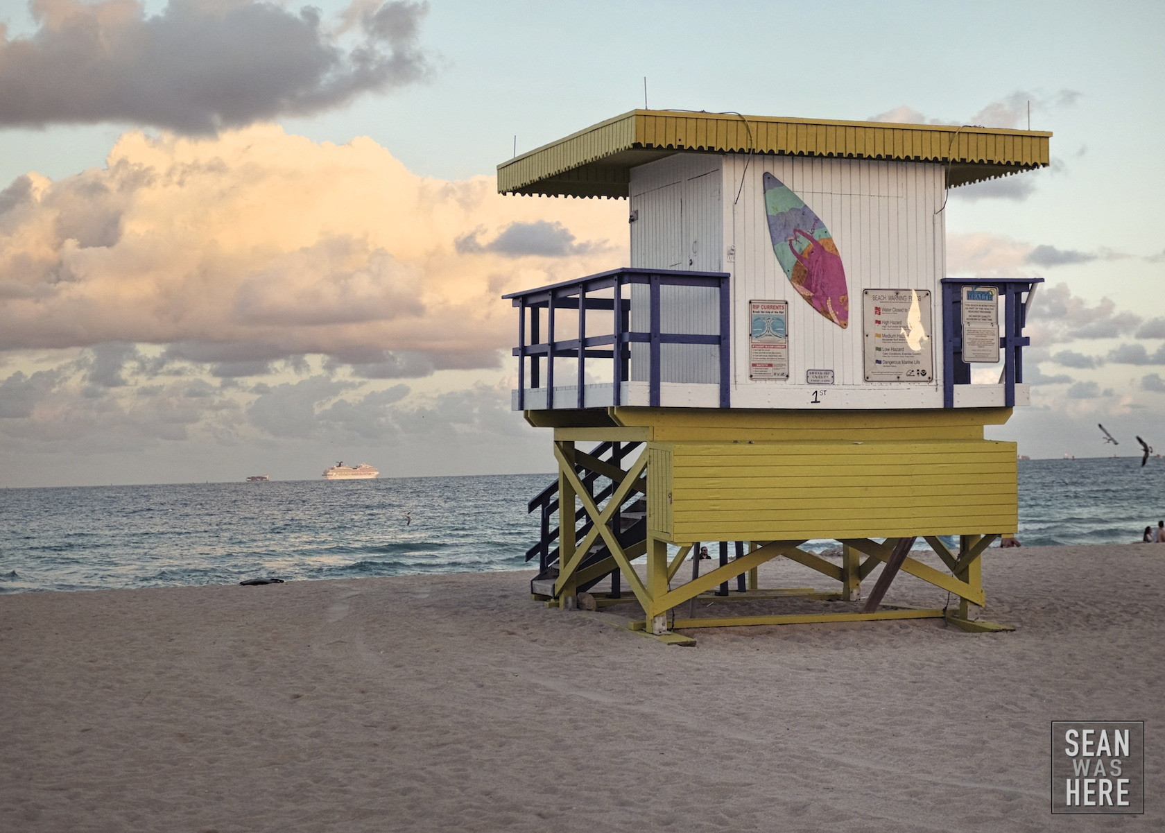 Miami Beach 1st Street Lifeguard Stand