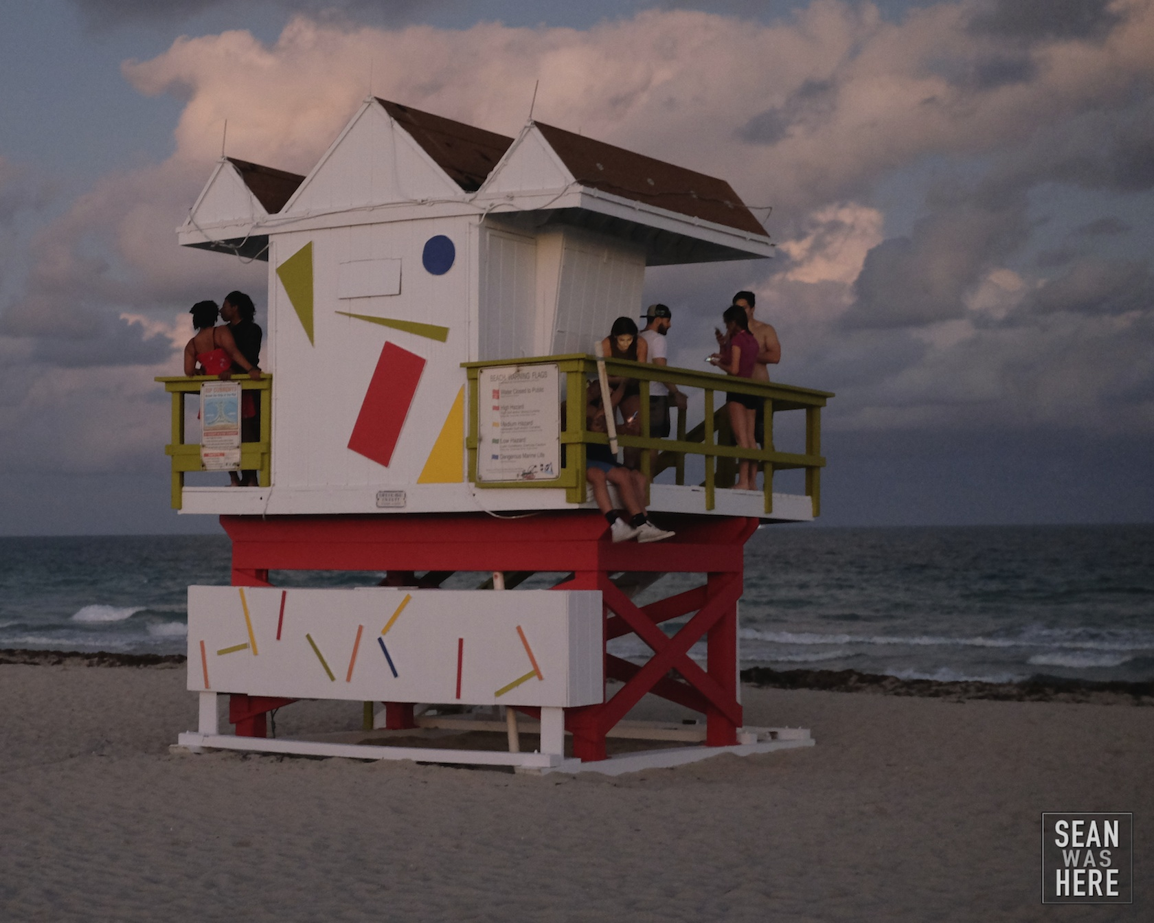 Miami Beach Jetty 6th Street Lifeguard Stand