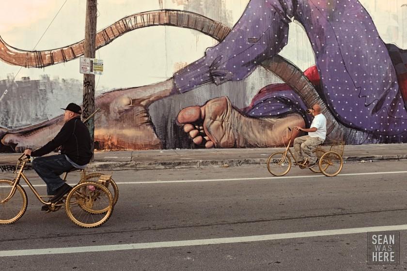 Herakut Mural (detail). Wynwood Miami 2014