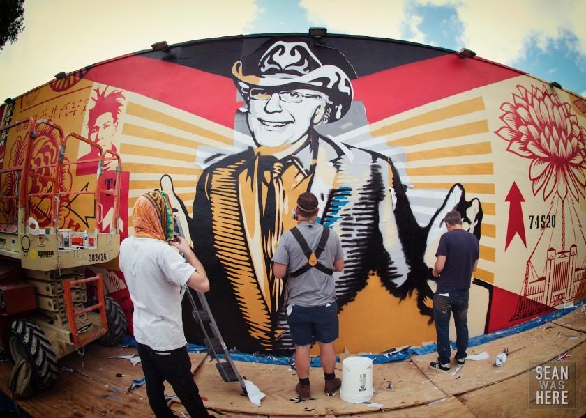 Shepard Fairey's Tony-Goldman Mural, Wynwood Miami. 2012