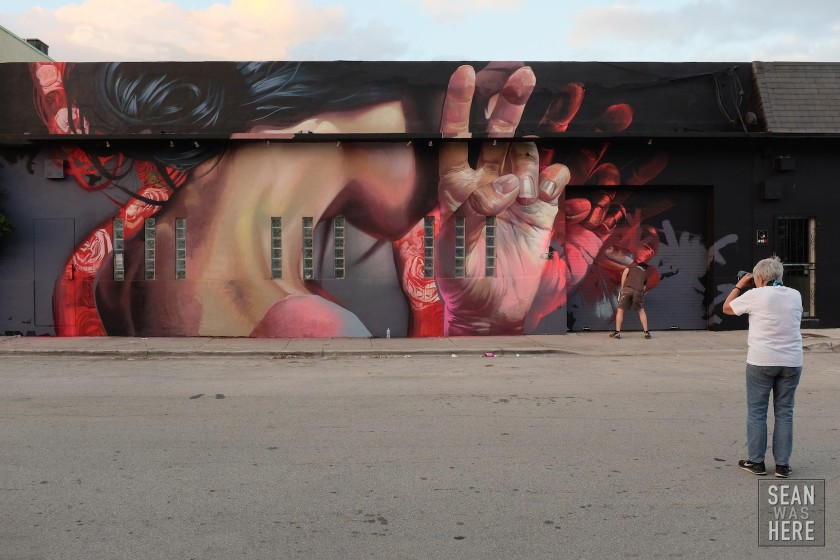 Case Maclaim Mural (being photographed by Martha Cooper). Wynwood Miami 2014