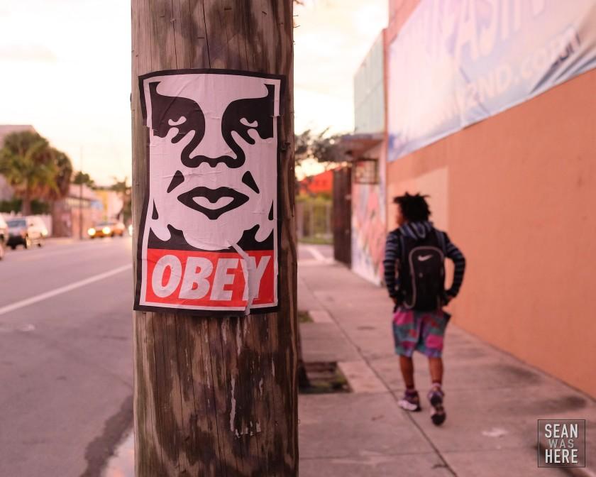 On The Street. Obey. Wynwood Miami. 2013