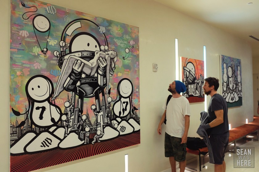 The London Police Paintings At Boulay Hotel, Miami Beach. 2014