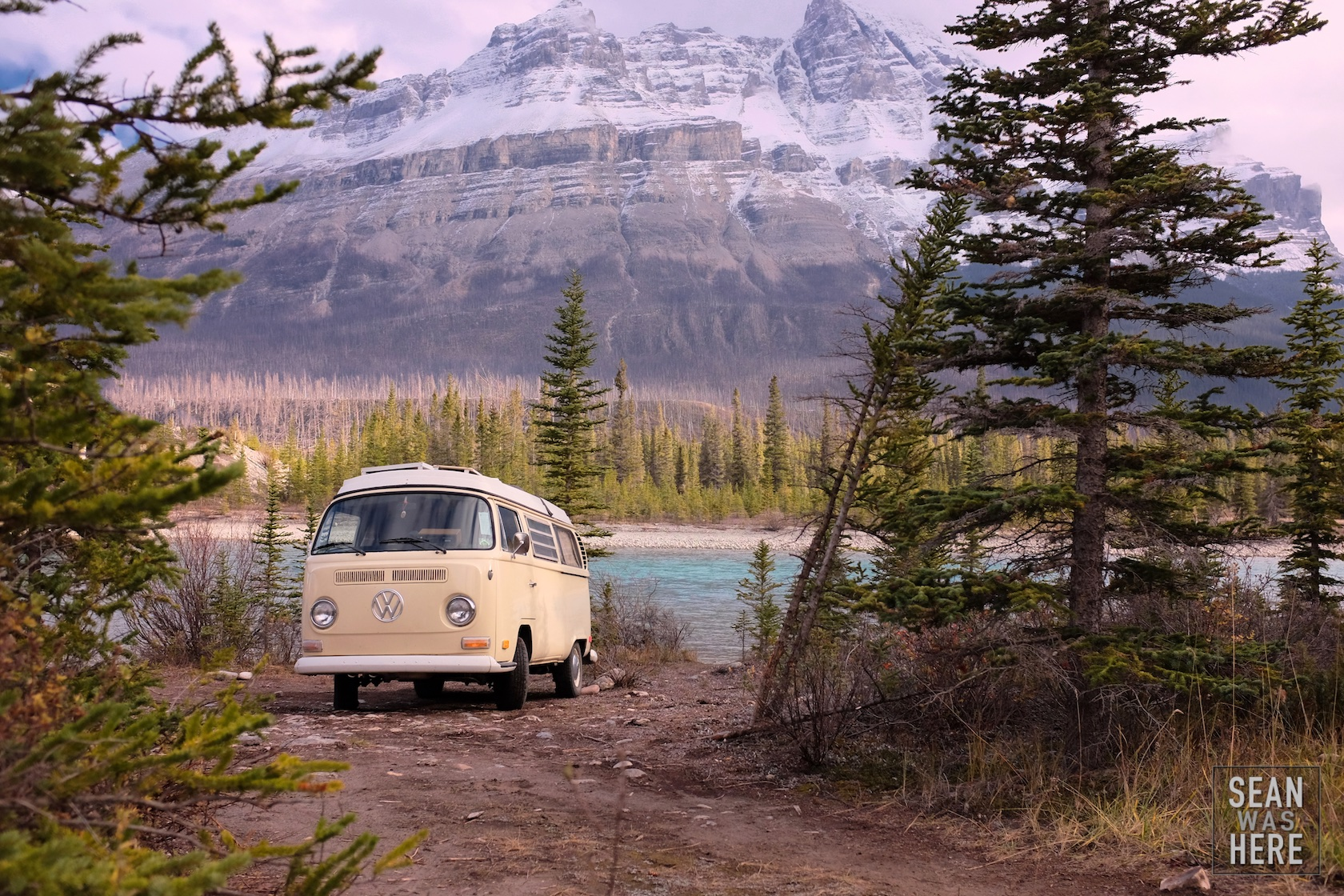 Living in a van down by the river. Banff, Alberta